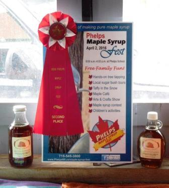 Maple Syrup Wins 2nd Place
