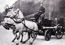 Horses pulling Fire Engine